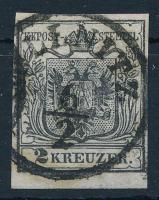 1850 2kr HP I b fekete ,,GÖLLNITZ Certificate: Steiner