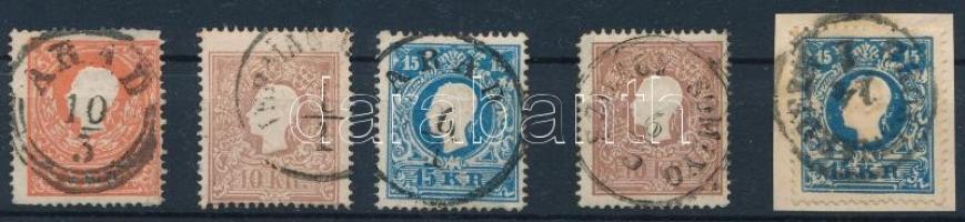5 pcs Type I. stamps, 5 db I típusú bélyeg