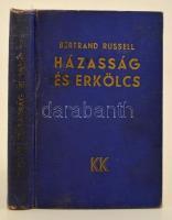 Bertrand Russel: Házasság és erkölcs. Fordította: Benedek Marcell. Bp., 1934. Káldor. Kiadói aranyozott egészvászon kötésben, kopott borítóval.
