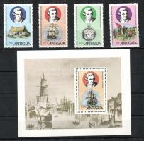 1979 200 éve halt meg James Cook Mi 548-551 + blokk 44