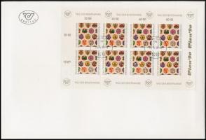 Stamp Day mini sheet FDC, Bélyegnap kisív FDC-n