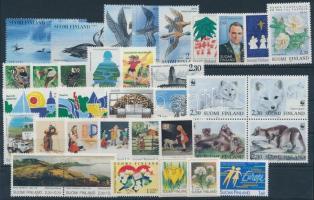 8 sets + 8 stamps + 1 block of 4, 8 klf sor + 8 klf önálló érték + 1 négyestömb