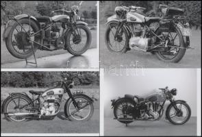 Motorkerékpárokról készült 5 db mai nagyítás, 10x15 cm