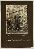 cca 1940 Balatonfüred, Hullám nyaraló. Feliratozott fotó kartonlapon 18x12 cm