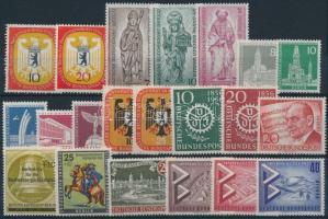1955-1957 5 sets + 9 stamps, 1955-1957 5 klf sor + 9 klf önálló érték