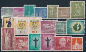 1956-1959 3 sets + 13 stamps, 1956-1959 3 klf sor + 13 klf önálló érték