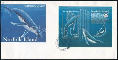 Whales block FDC, Bálnák blokk FDC-n