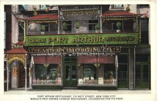 New York City, Mott Street 7-9. Port Arthur restaurant, Eastern Importing Co. The worlds best known Chinese restaurant, celebrated for its food