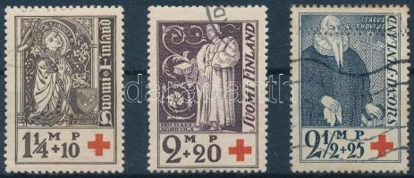 1933 Vöröskereszt sor Mi 181-183