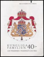 1993 Királyi család bélyegfüzet Mi 1793-1796