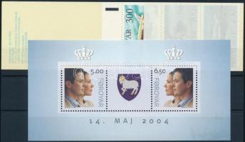 1985 Repülő bélyegfüzet Mi 125-129 + 2004 Mi blokk 17