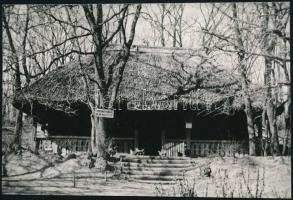 Debrecen, Dr. Vásáry István Menedékház, fotó, hátoldalon Linzbauer Tamás pecsétjével, 9×14 cm