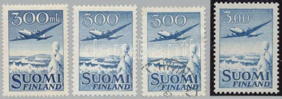 1950-1963 4 db Repülő bélyeg