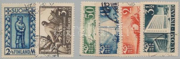 1938 2 db bélyeg és 1 sor Mi 211-216