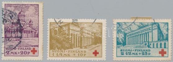 1932 Vöröskereszt sor Mi 173-175