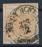 1850 1kr HP I a rendkívül ritka barnásnarancs szín Certificate: Ferchenbauer