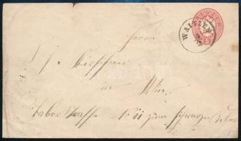 """~1863 5kr PS-cover """"WAITZEN"""", ~1863 5kr díjjegyes boríték """"WAITZEN"""""""