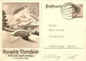 1936 Olympische Winterspiele. Garmisch-Partenkirchen / Winter Olympics in Garmisch-Partenkirchen advertisement card s: Diebitsch