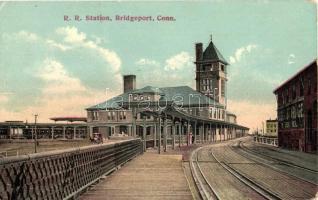 Bridgeport (Connecticut), R. R. (railway) station (EK)