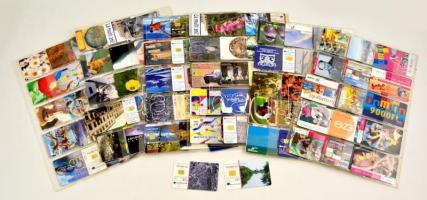 170 db telefonkártya, főleg magyar és román, közte érdekes darabokkal