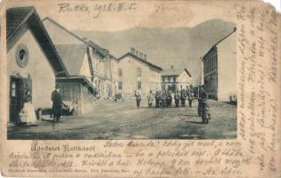 1918 Ruttka, Vrútky; utcakép. Moskóczi Ferenczné kiadása / street view (EM)