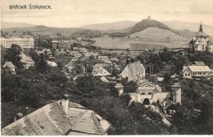 Selmecbánya, Schemnitz, Banská Stiavnica; Leányvár, Kálvária, Hegybányai (Szélaknai) kapu. Kiadja Joerges B. / castle, cavalry