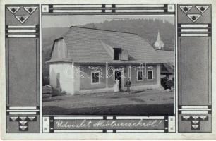 Alsóturcsek, Dolny Turcek, Unter-Turz (Turcsek); üzlet, kápolna a háttérben. Szecessziós fotó / shop, chapel in the background. Art Nouveau photo