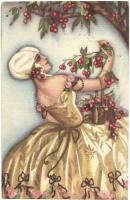Italian art postcard, lady. Ballerini & Fratini 203. unsigned Chiostri (EK)