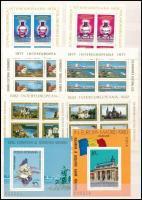 Románia 16 klf blokk és kisív 2 oldalas berakólapon