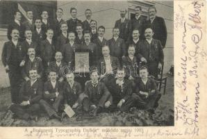 1903 A Budapesti Typographia Dalkör működő tagjai. csoportkép / Hungarian Typographia Choral Society, group picture