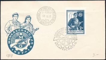 1967 Évfordulók - események (V.) vágott bélyeg FDC