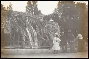 cca 1900 Budapest Margit sziget üveg dia pozitív 8x8 cm