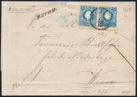 Registered 2nd weight class cover with 2 x 15kr I, one with St. Andrews cross part, damaged 10kr on the backside