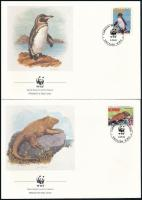 WWF The wildlife of the Galapagos Islands set 4 values 4 FDC, WWF: A Galápagos-szigetek élővilága sor 4 értéke 4 db FDC