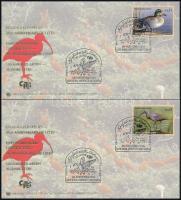 2003 WWF: Veszélyeztetett fajok, madarak sor 4 db FDC, WWF: Endangered species, birds set on 4 FDC Mi 389-392