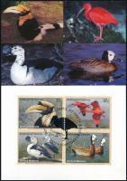 2003 WWF: Veszélyeztetett fajok, madarak sor négyestömb CM, WWF: Endangered species, birds set blocks of 4 CM Mi 925-928