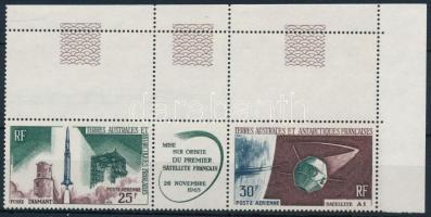 1966 Csillagászat ívszéli ívközéprészes hármascsík, Astronomy Mi 33-34
