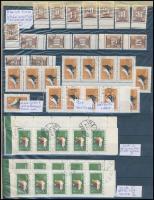 Magyar tévnyomatok, nyomdai különlegességek, kisebb nagyobb nyomdai hibák, perforálási érdekességek 2 db A/4-es fekete berakólapon, fehér dossziéban