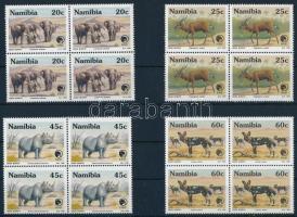 Animals set in blocks of 4, Állatok sor négyestömbökben