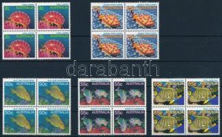 1984 Természet sor négyestömbökben, Nature Mi 879-884