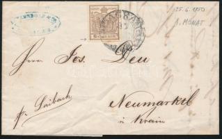 1850.VI.25. 6kr HP I. plate flaw