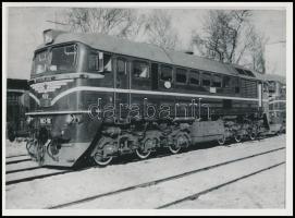 cca 1960 M62 116-os mozdony újkorában. Fotó / Locomotive 18x13 cm