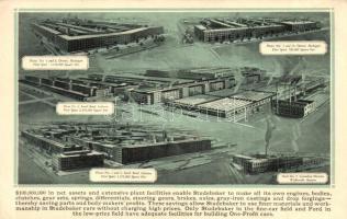 Detroit, South Bend, Walkerville (Canada). Studebaker Corporation plants (EK)