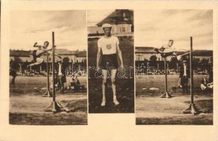 1913 Mac. verseny, Horine magasugró világrekorder; Klasszikus pillanatok vállalat, Révész és Bíró műterem / High jump championship, George Horine