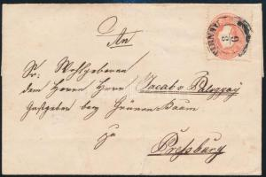 ~1862 5kr on cover