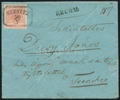~1850 3kr HP on registered cover with recorded delivery, 2 ripped 3kr on the backside