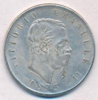 Olaszország 1873M 5L II. Viktor Emánuel Fe hamisítvány T:2 Italy 1873M 5 Lire Vittorio Emanuele II Fe fake C:XF