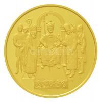 2001. 100.000Ft Au Államalapító Szent István dísztokban, tanúsítvánnyal (31,1g/0.986) T:PP / Hungary 2001. 100.000 Forint Au Saint Stephen with certificate in orignal case (31,1g/0.986) C:PP Adamo EM177