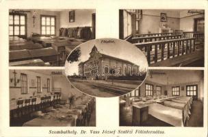 Szombathely, Dr. Vass József Szalézi Fiúinternátus, tanulóterem, főépület, kápolna, ebédlő, hálóterem