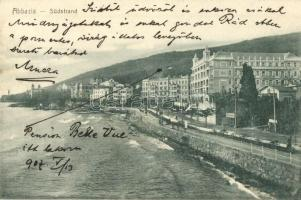 1907 Abbazia, Südstrand, Hotel Quisisana, A. Dietrich